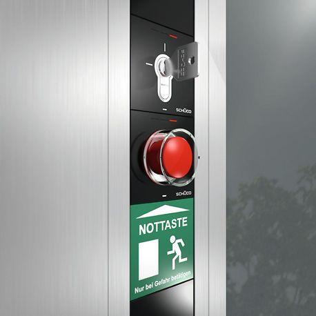 Schüco Building Automation DCS emergency exit control
